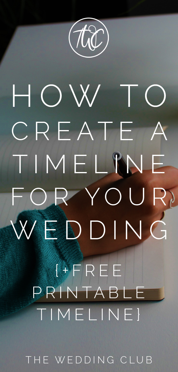 How to create a timeline for your wedding + free printable timeline. Having a timeline to plan out your wedding will make things so much easier! This post shows you exactly how to do that in 4 easy steps! #planawedding #weddings #planning #timeline