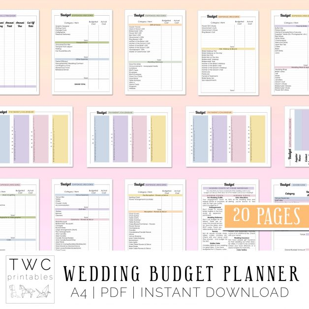 Wedding Budget Planner 2019 - plan every detail of your wedding budget! Plan your wedding budget with these amazing budget printables!