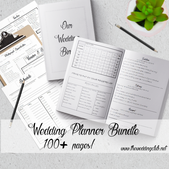 Printable Wedding Binder - Whimsical Theme - 110+ Pages