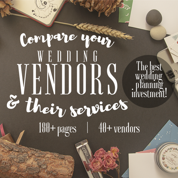 Wedding Printable: Compare Wedding Vendors