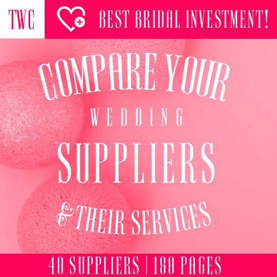 Compare your wedding suppliers