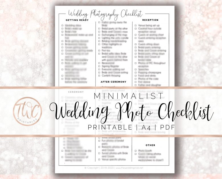 wedding photography checklist