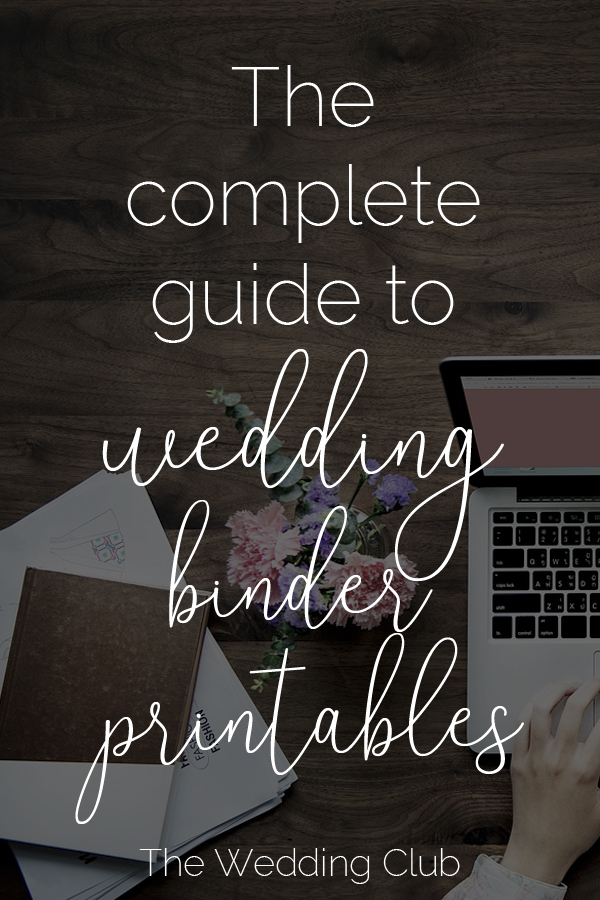 picture about Free Printable Wedding Organizer Binder referred to as The Thorough Marketing consultant towards Marriage Binder Printables - THE