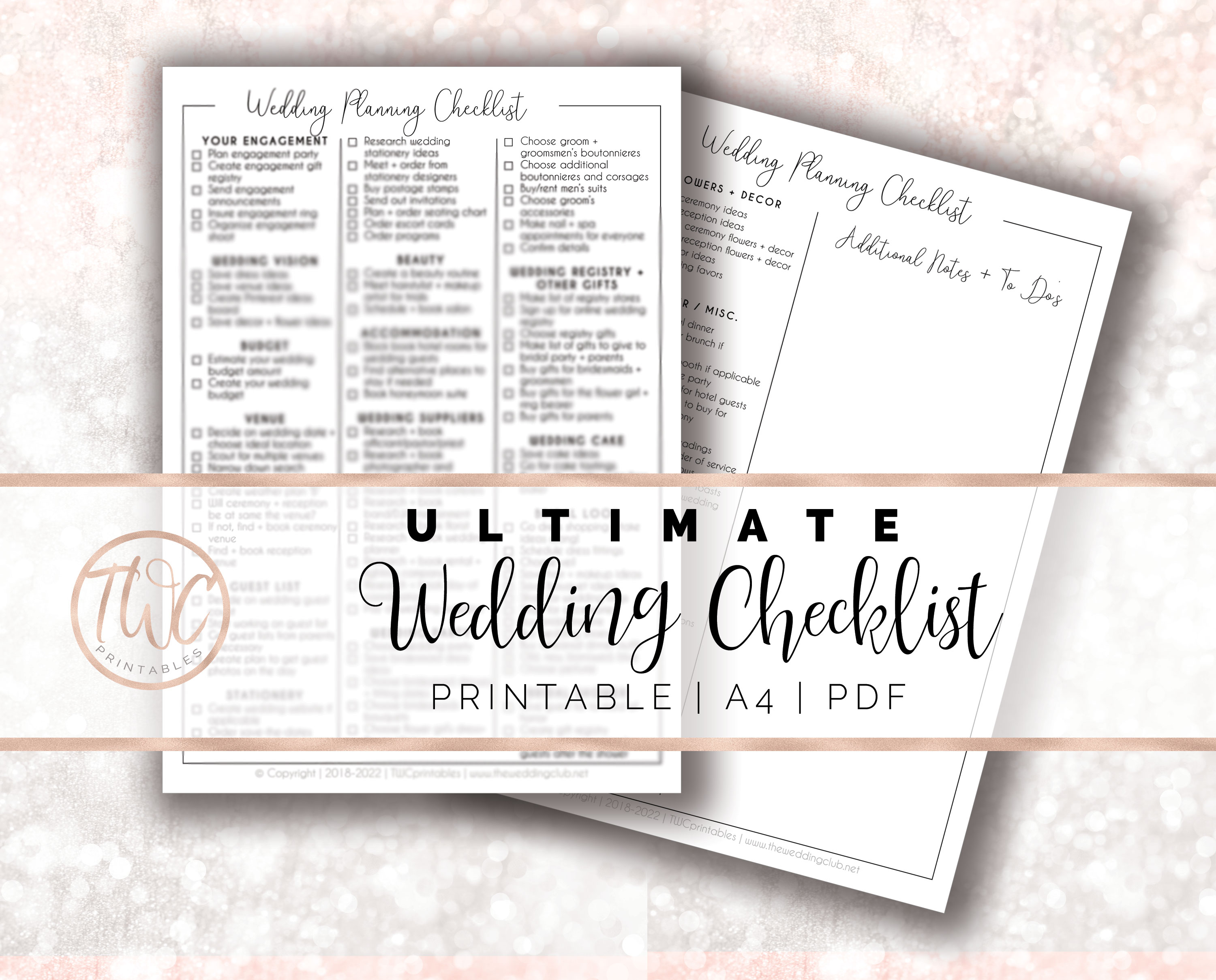 wedding checklist, wedding planning checklist, ultimate wedding checklist