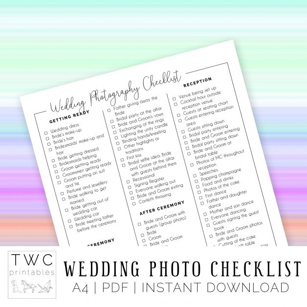 Complete Wedding Checklist: The Complete Guide To Wedding Binder Printables