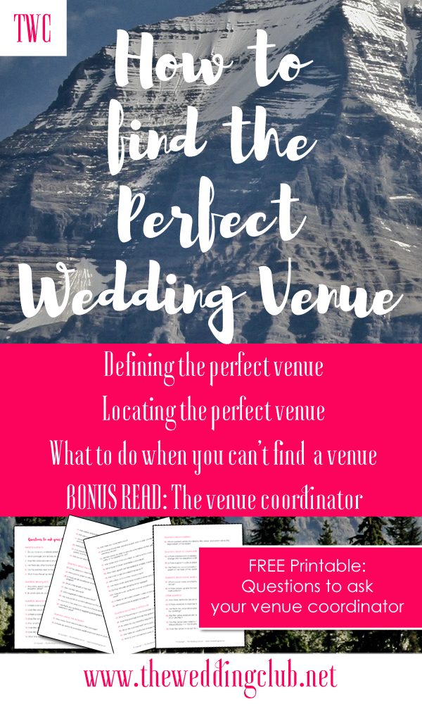 how to find the perfect wedding venue - venue coordinator versus wedding planner - free printable - questions to ask your venue coordinator