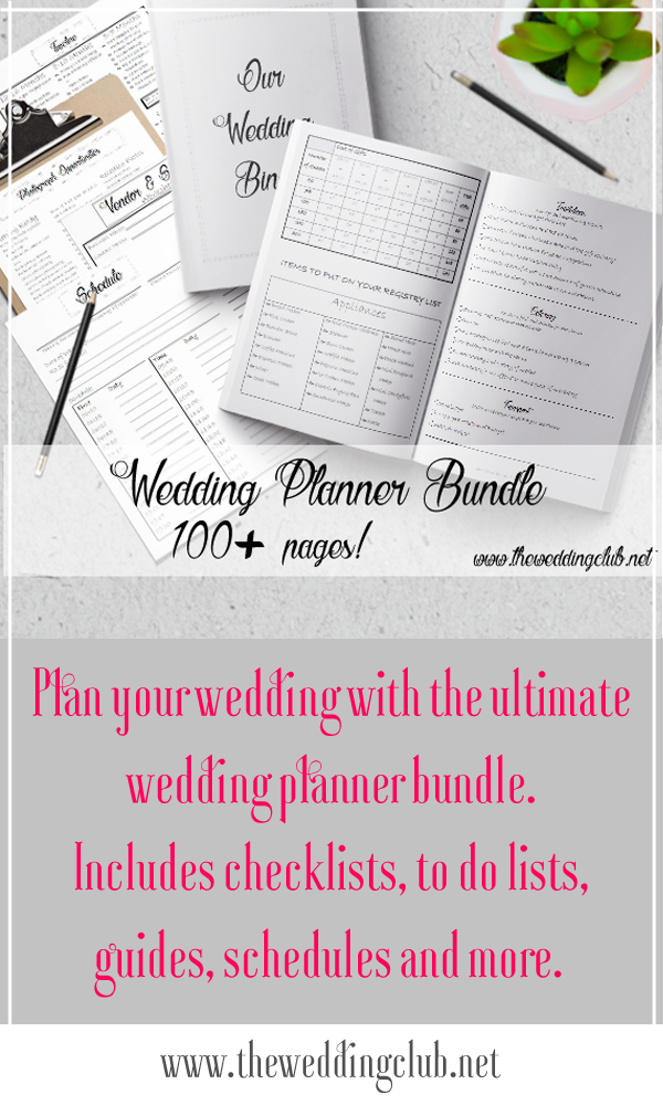 The ultimate printable wedding planner bundle, with more than 100 pages of wedding checklists, wedding to do lists, wedding planning guides, wedding schedules, and so much more. This printable is perfect for the bride who is planning her own wedding or a wedding planner who just started her career. Plan your own wedding with this massive collection of great printables. Well thought out and specially designed by The Wedding Club Team. Be sure to favorite our Etsy shop to stay updated.
