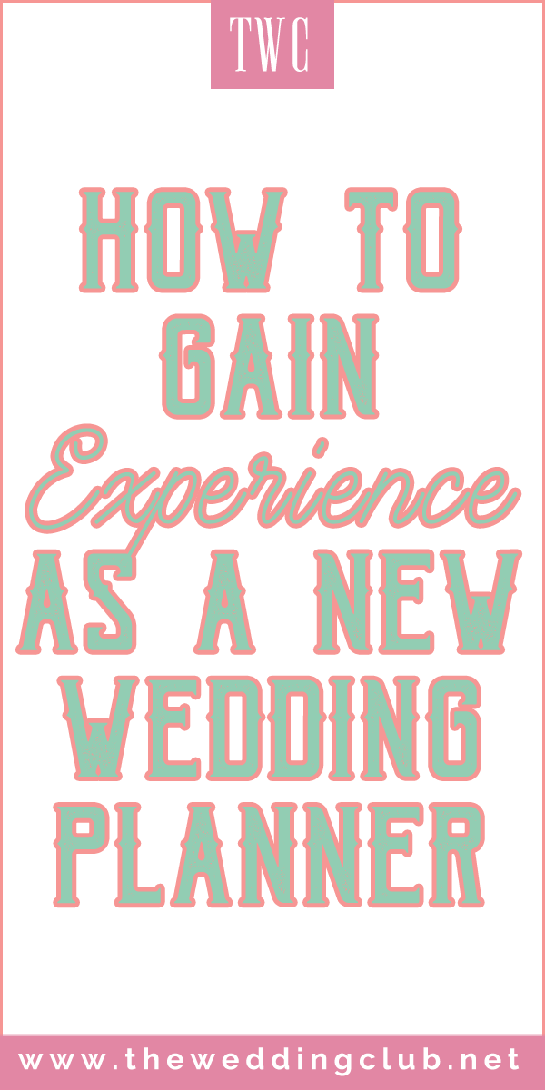How to gain experience as a new wedding planner