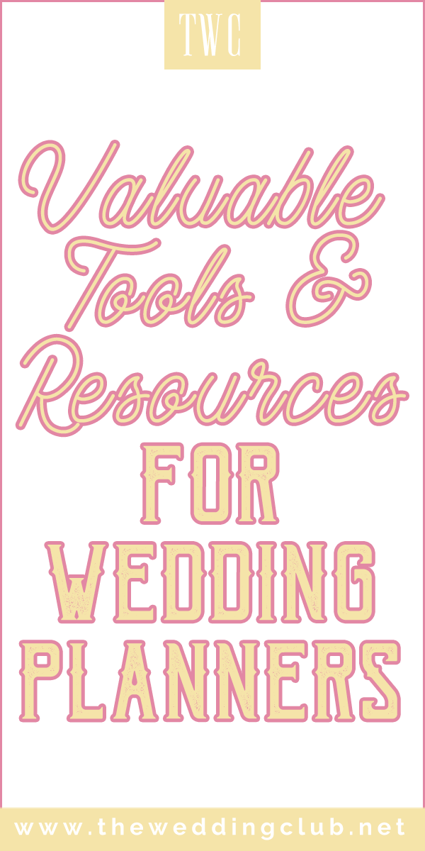 Valuable tools and resources for wedding planners