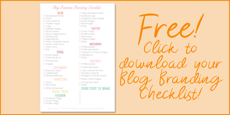 Blog branding checklist - how to brand your blog, what to brand on your blog