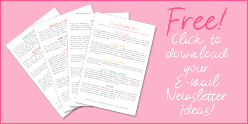 E-mail newsletter ideas - email ideas for subscribers