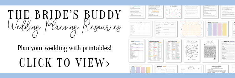 The Bride's Buddy - Wedding Planning Resources - The massive archive of wedding planning printables to plan your wedding! In this membership, you will find checklists, planners, calendars, budgets and more... From list of duties for each member of your bridal party, to a complete bridal shower planner, multiple checklists for different parts of your wedding, and complete bundles to plan your wedding music, budget, suppliers, etc.! Updated monthly with new printable resources.