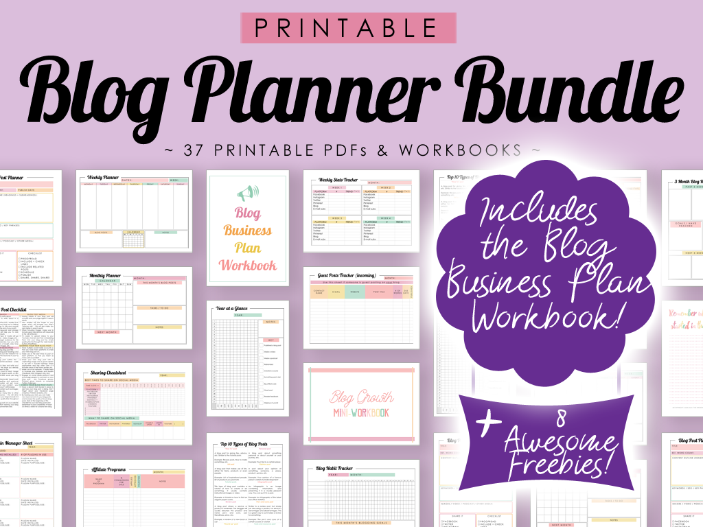 Printable Blog Planner Bundle