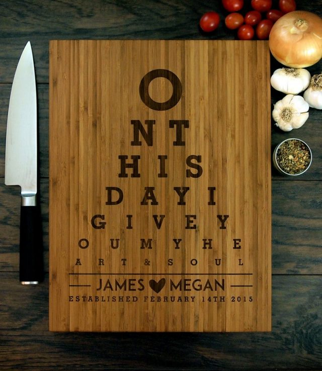 Personalized Wedding Gift Cutting Board by WoodKRFT