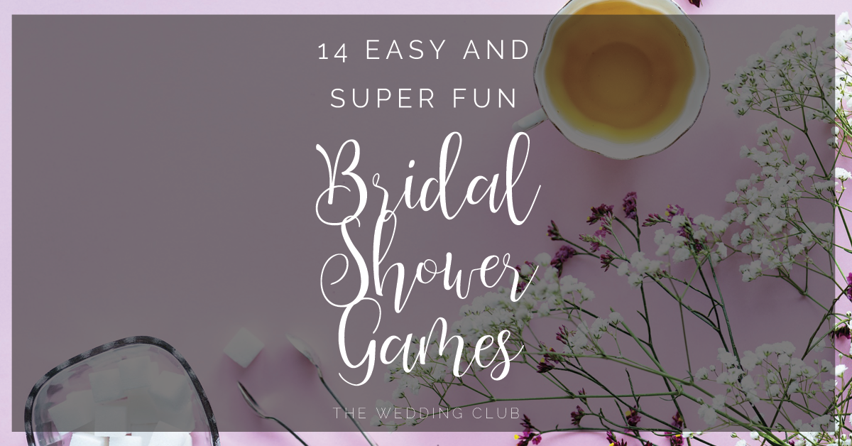 14 Easy and super fun Bridal Shower Games + FREE Printables