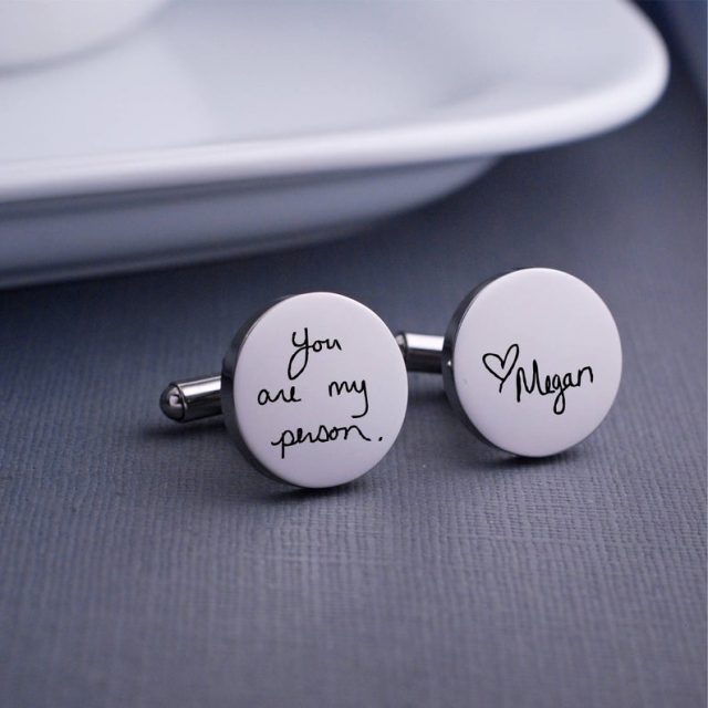 Personalized Cuff Links by georgiedesigns
