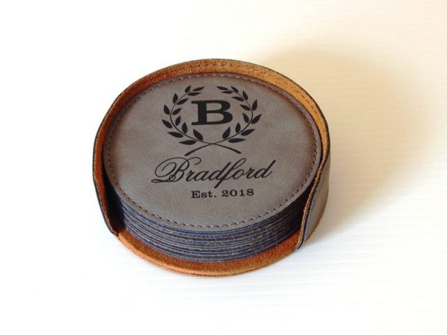Leather Coasters by GreatDecorativeCross