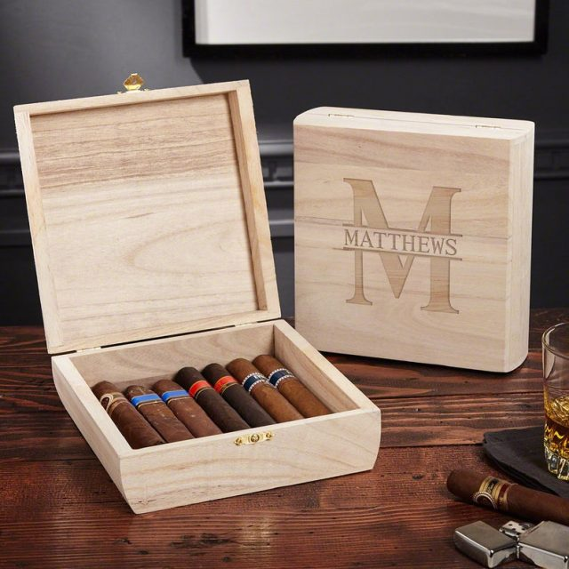 Personalized Cigar Box by finddreaminus