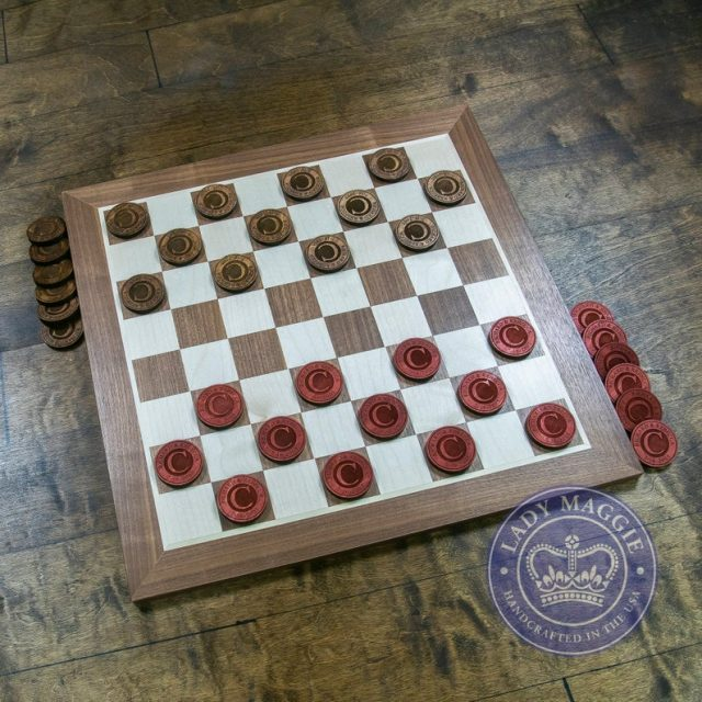 Personalized Checkers Game by LadyMaggies