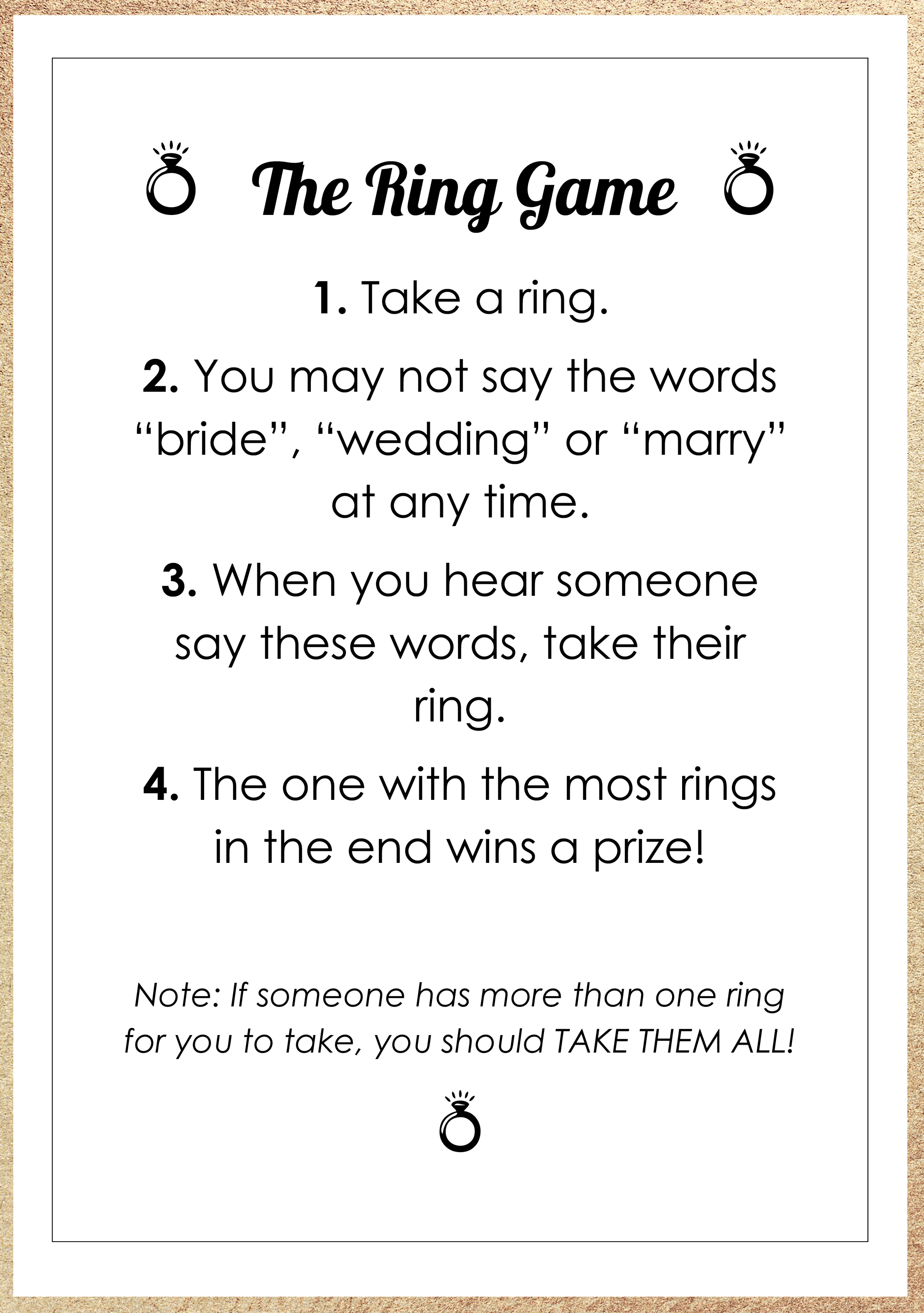 ring bridal shower game free download free bridal shower printable bridal shower