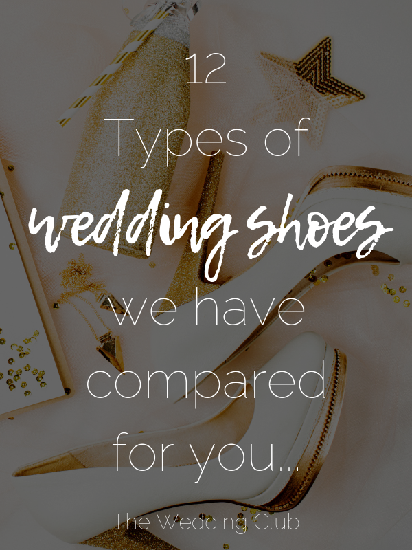 12 Types of wedding shoes we have compared for you