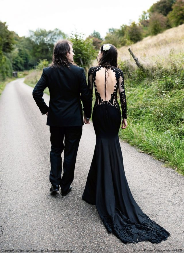 Black Wedding Dress by PolinaIvanova