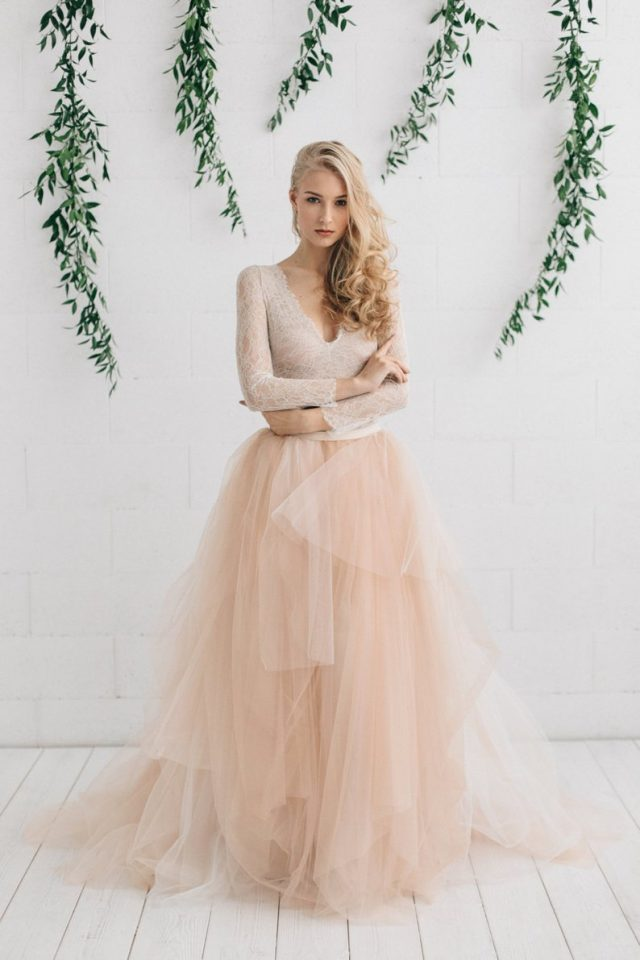 Blush Wedding Dress by JurgitaBridal