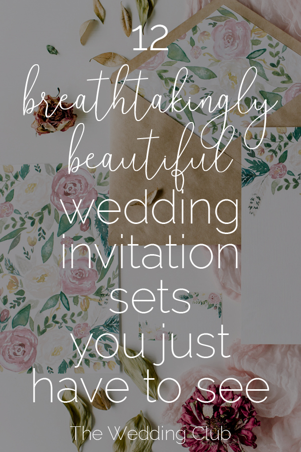 12 Breathtakingly Beautiful Wedding Invitation Sets you just have to see - still shopping for your wedding invitations? Have a look at these pretty sets from creative market