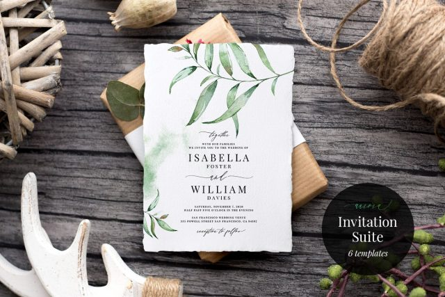 Aurora Wedding Invitation Suite by Alice Bluefox